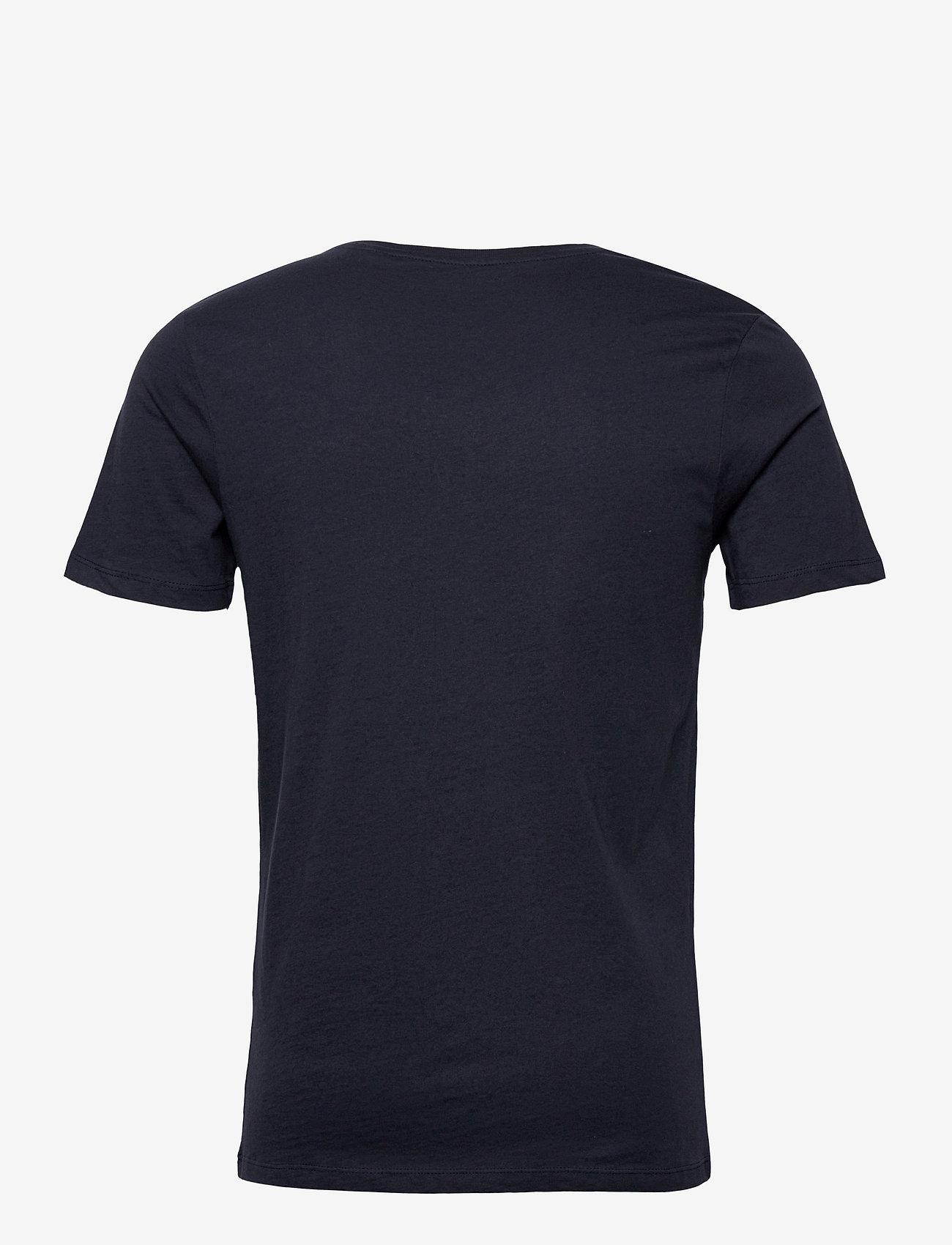 Jack & Jones - JJEJEANS TEE SS CREW NECK  20/21 - kortärmade t-shirts - navy blazer - 1