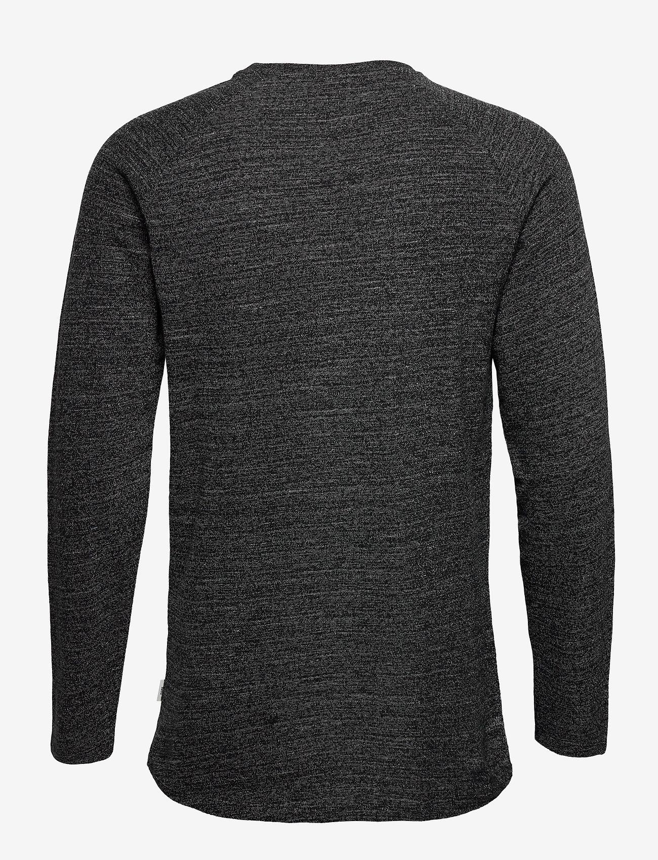 Jack & Jones - JCOOZIL TEE LS CREW NECK NOOS. - basic t-shirts - black melange - 1
