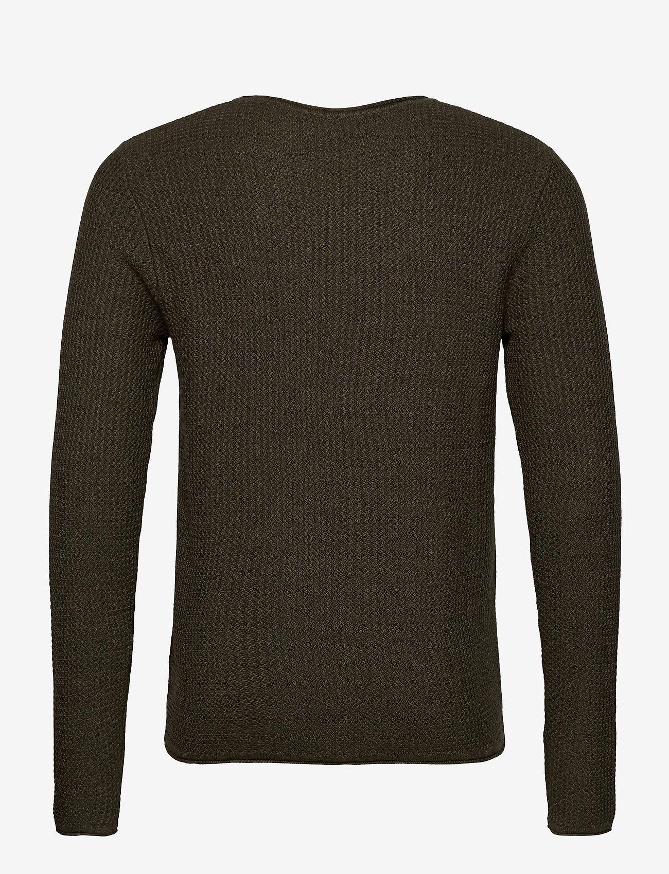 Jack & Jones - JPRBLUCARLOS KNIT CREW NECK NOOS - tricots basiques - olive night - 1