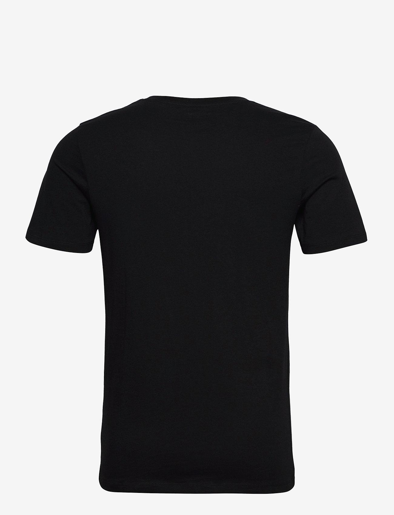 Jack & Jones - JJELOGO TEE SS O-NECK 2 COL SS21 - kortärmade t-shirts - black - 1