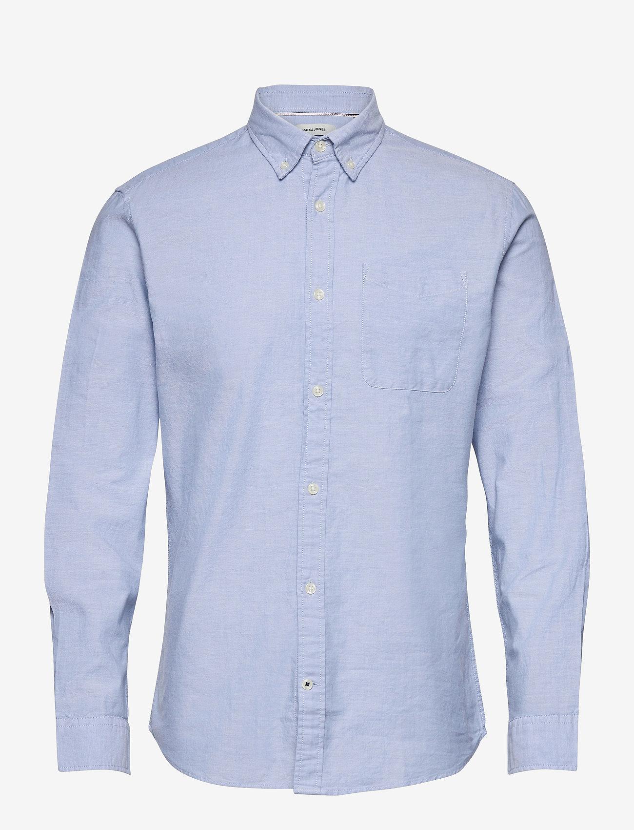 Jack & Jones - JJEOXFORD SHIRT L/S S21 - casual skjortor - cashmere blue - 0