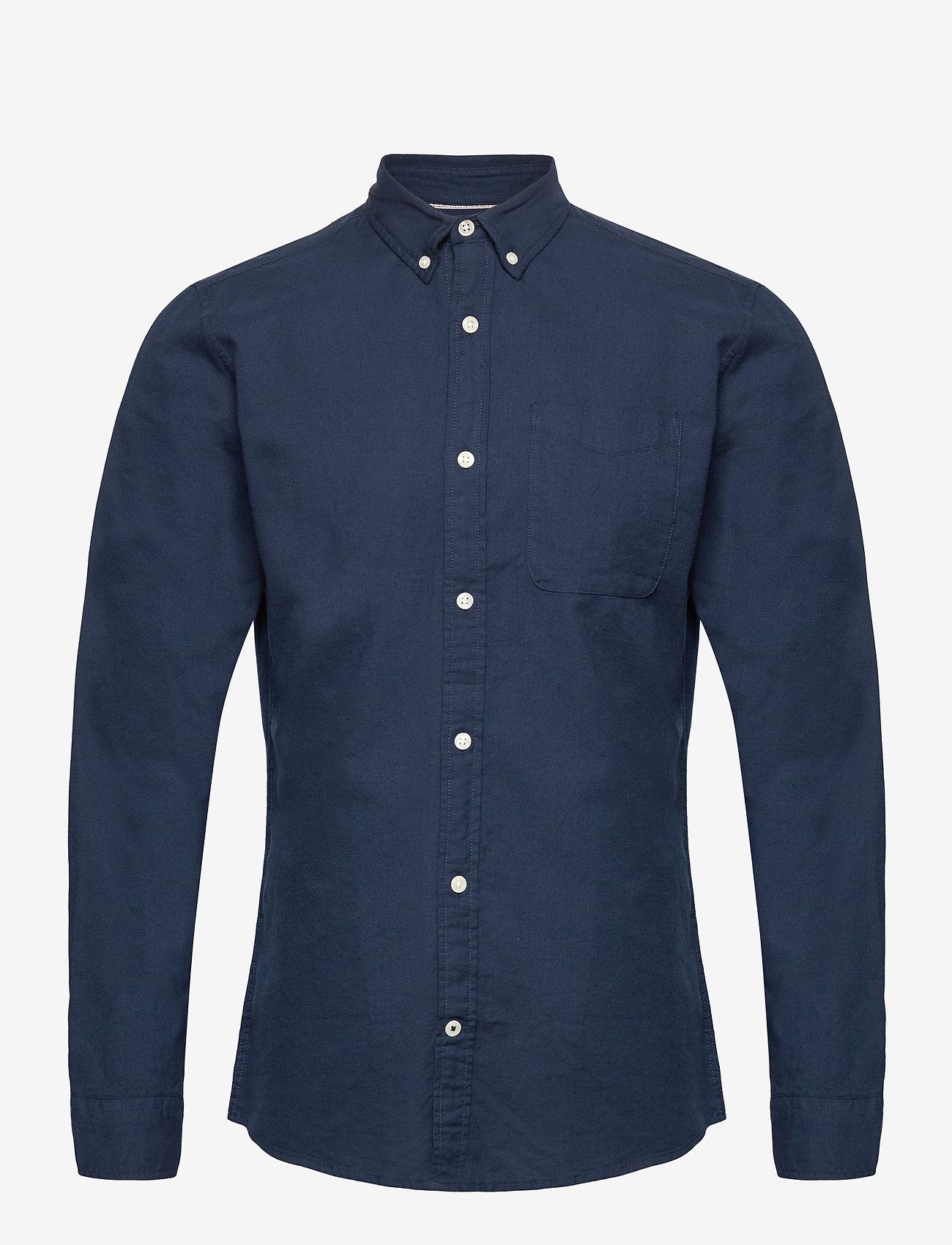 Jack & Jones - JJEOXFORD SHIRT L/S S21 - casual skjortor - navy blazer - 0