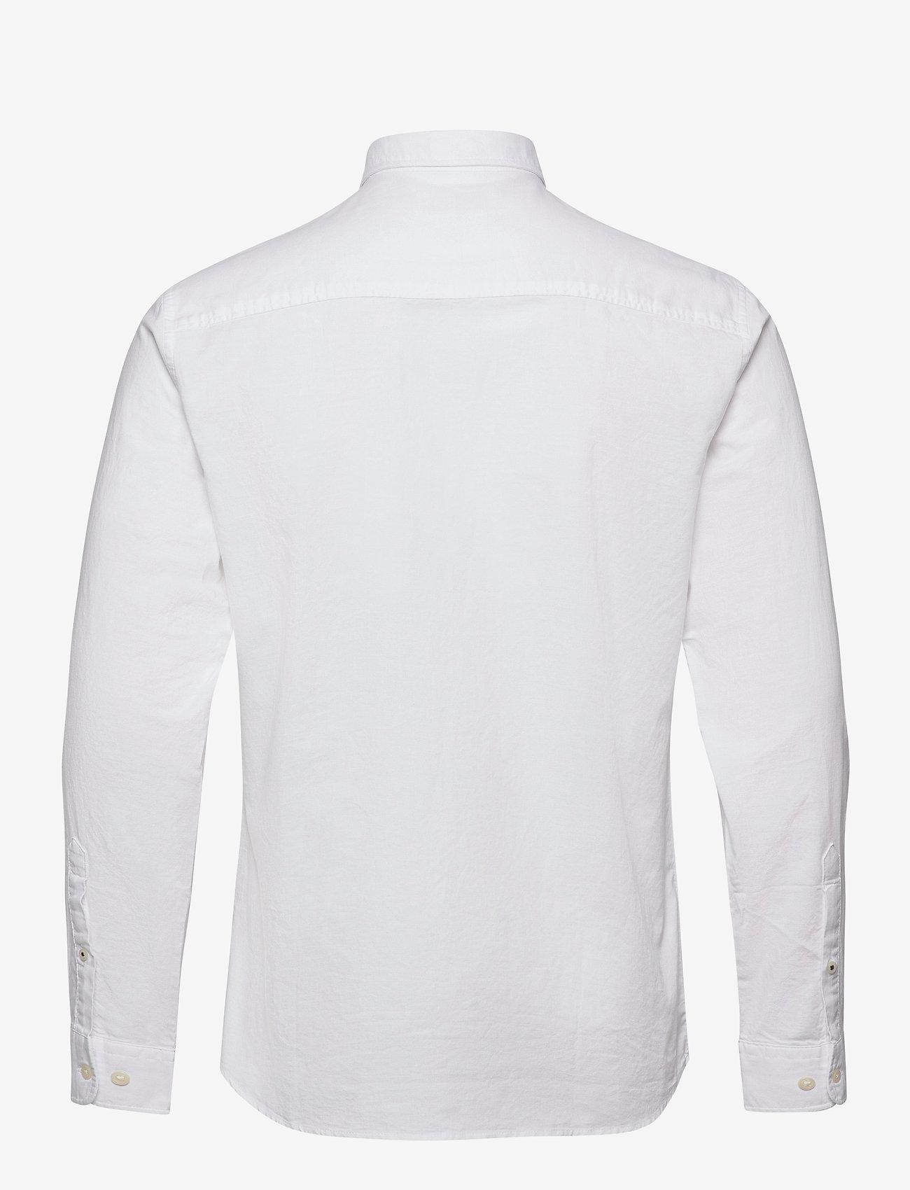 Jack & Jones - JJEOXFORD SHIRT L/S S21 - casual skjortor - white - 1