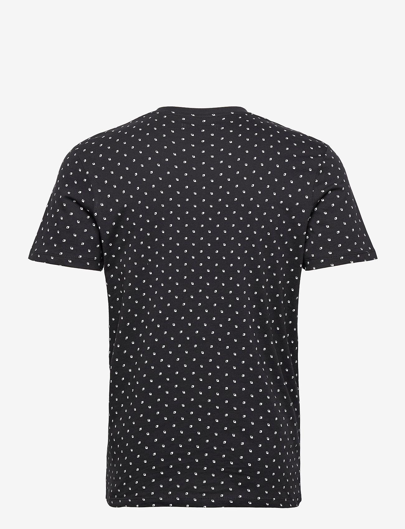 Jack & Jones - JJMINIMAL AOP TEE SS CREW NECK - kortärmade t-shirts - dark navy - 1