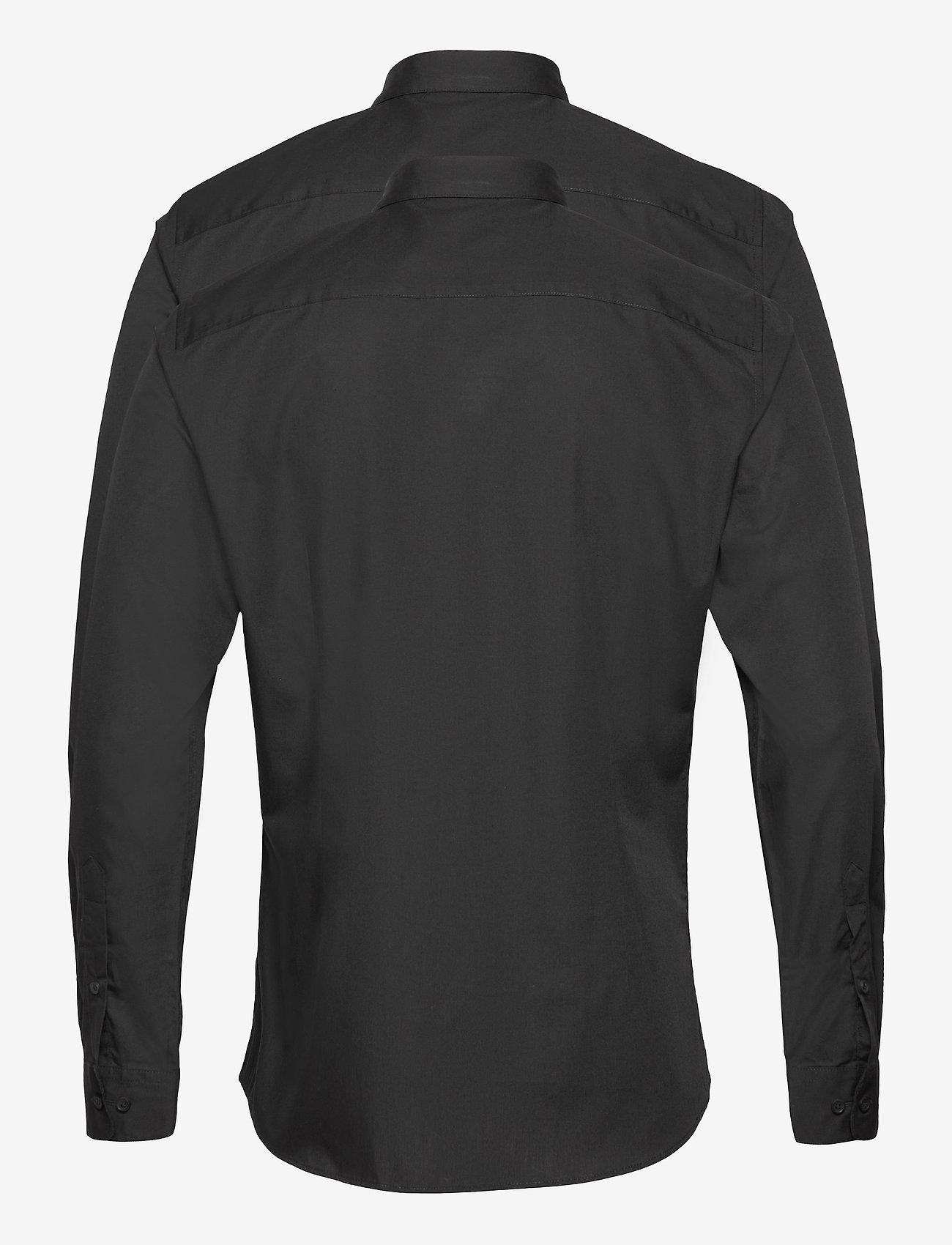 Jack & Jones - JJJOE SHIRT LS 2 PACK - basic skjortor - black - 1