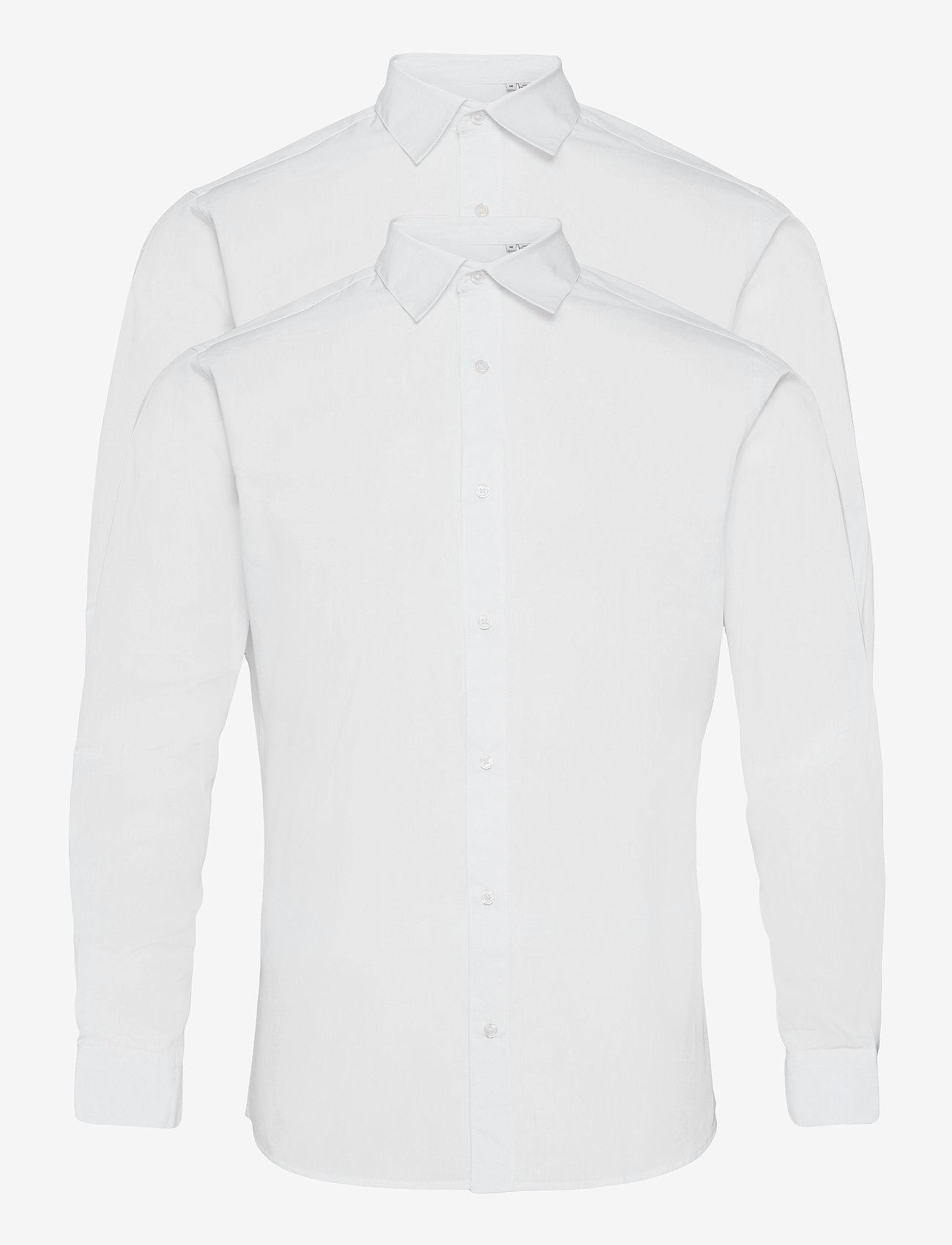 Jack & Jones - JJJOE SHIRT LS 2 PACK - basic skjortor - white - 0
