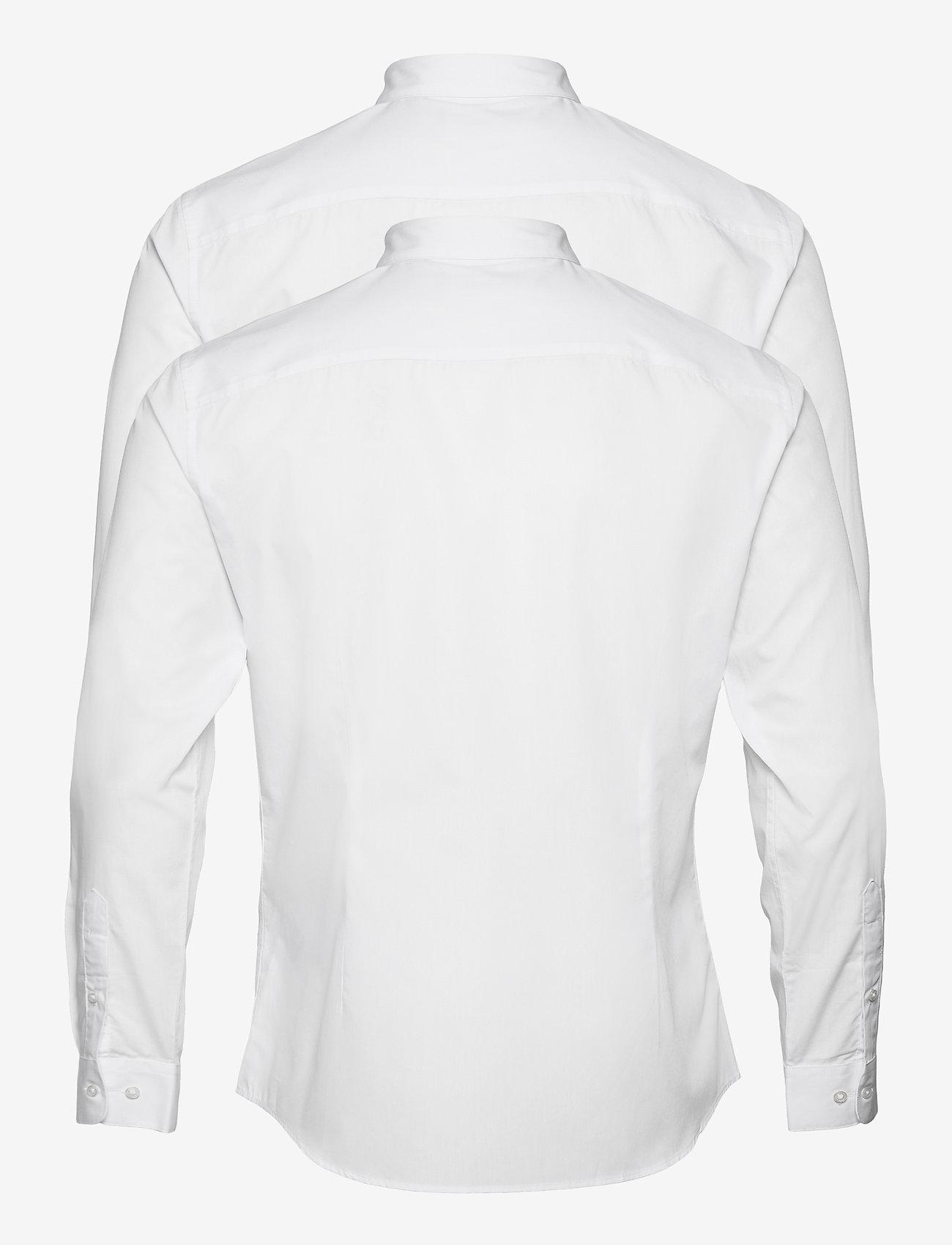Jack & Jones - JJJOE SHIRT LS 2 PACK - basic skjortor - white - 1