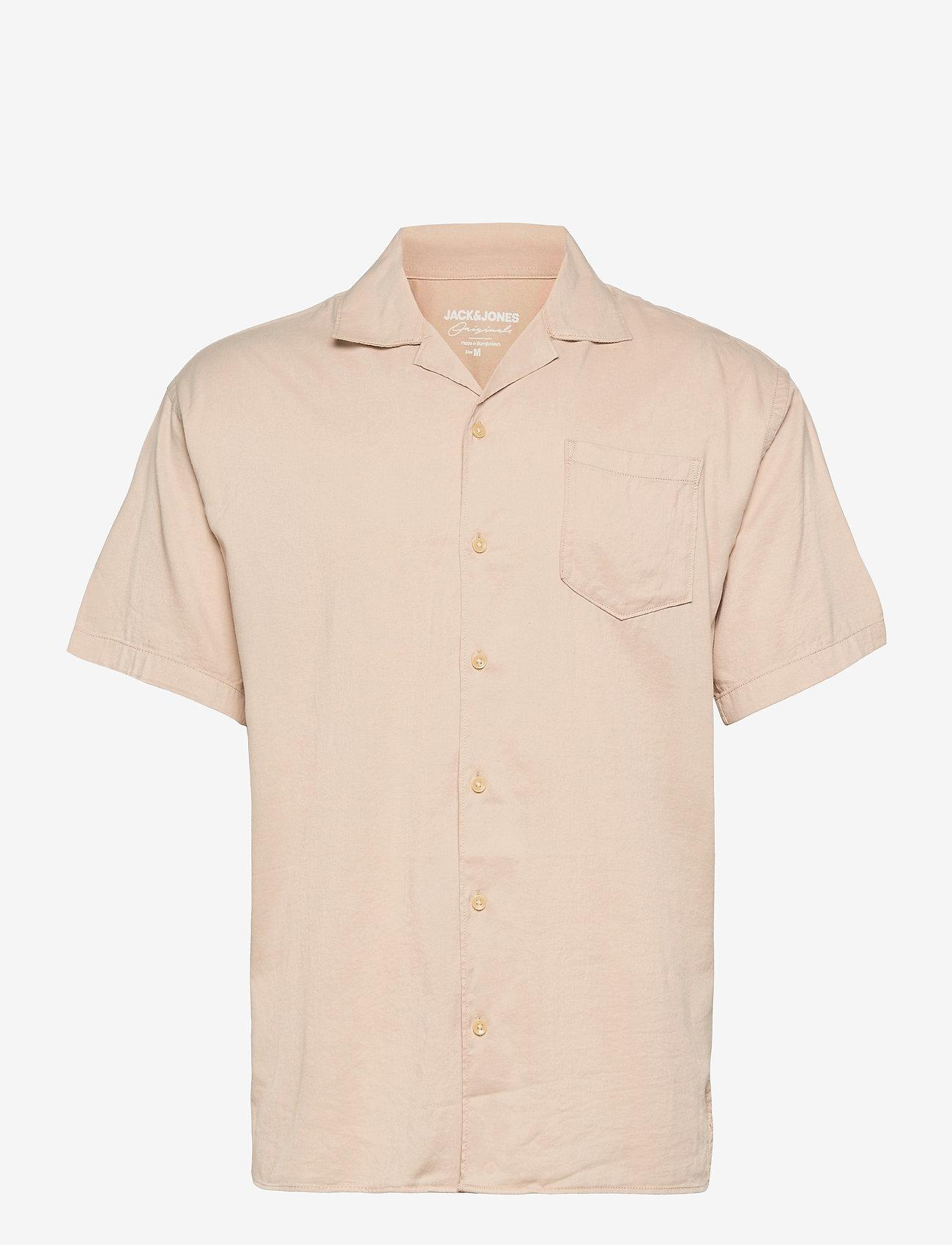 Jack & Jones - JORALEC SHIRT SS BLK - basic skjorter - crockery - 0