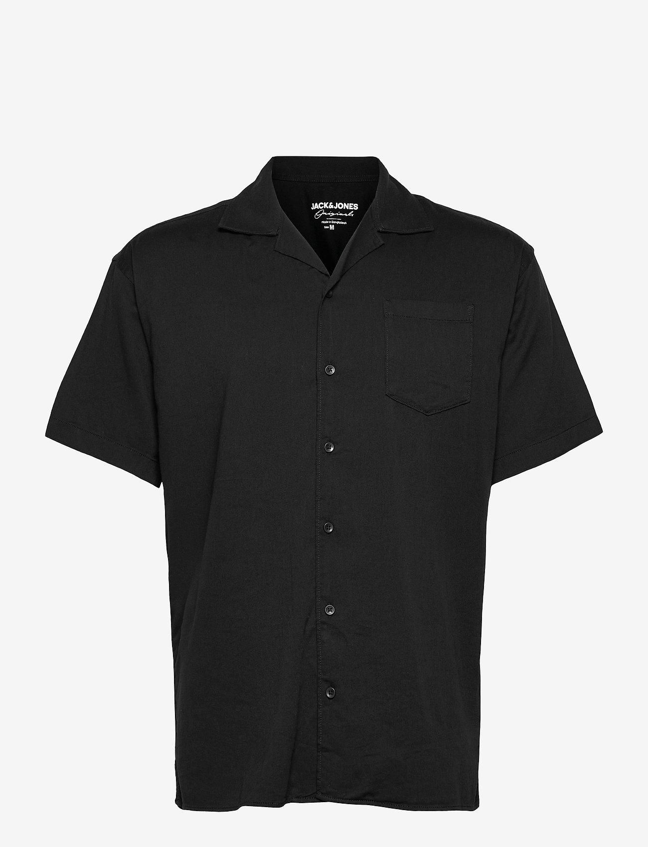 Jack & Jones - JORALEC SHIRT SS BLK - basic skjortor - tap shoe - 0