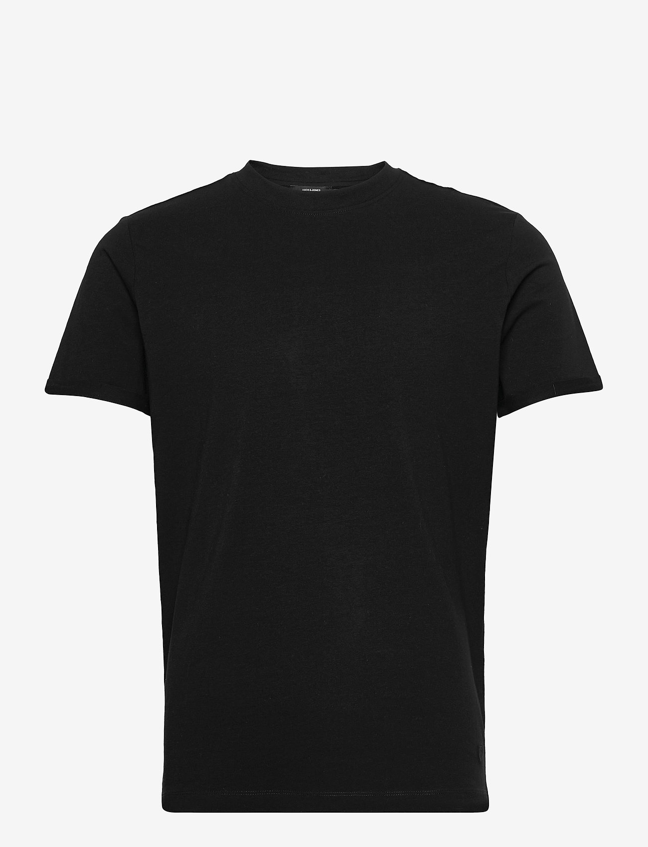 Jack & Jones - JPRBLALOGO SPRING TEE SS CREW NECK - basic t-shirts - black - 0