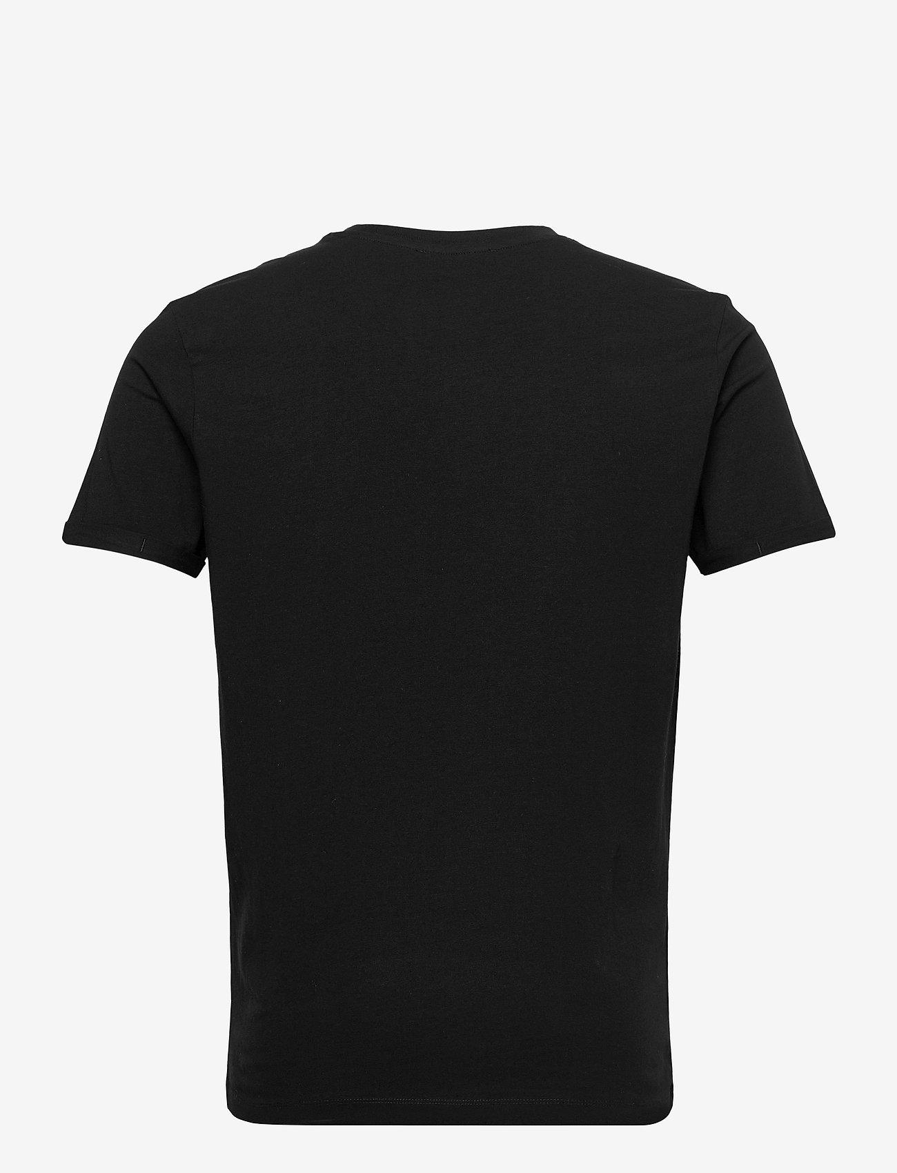 Jack & Jones - JPRBLALOGO SPRING TEE SS CREW NECK - basic t-shirts - black - 1