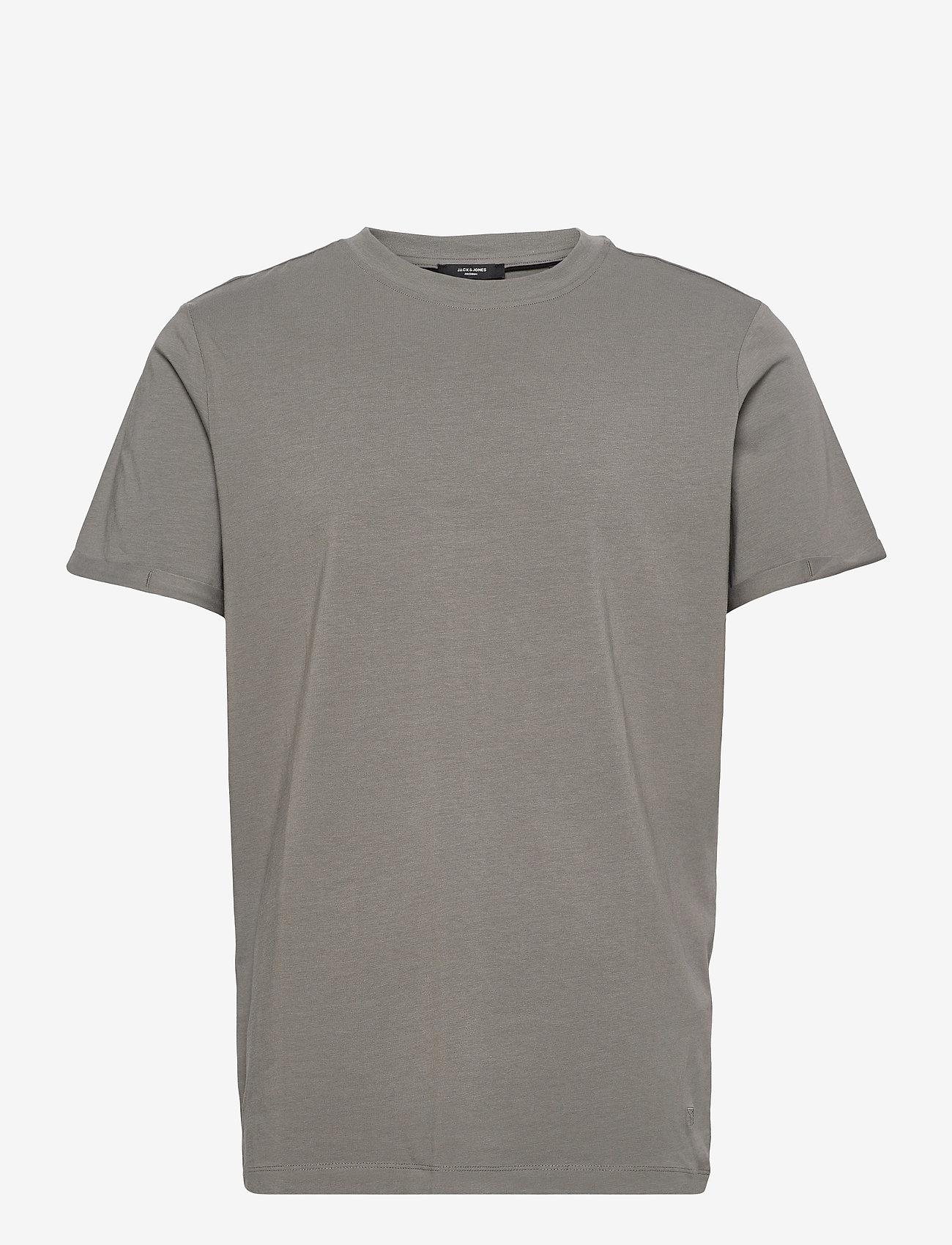 Jack & Jones - JPRBLALOGO SPRING TEE SS CREW NECK - basic t-shirts - new sage - 0