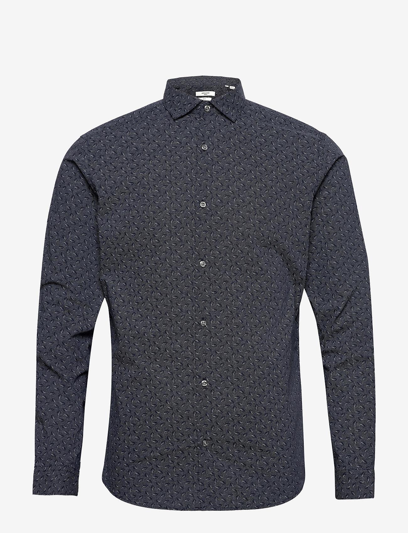 Jack & Jones - JPRBLAOCCASION MINIMAL SHIRT L/S LTN - casual skjortor - navy blazer - 0