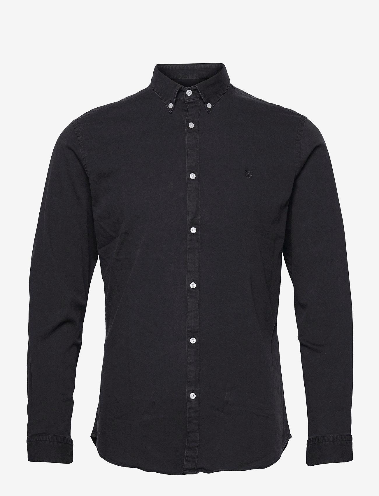 Jack & Jones - JPRBLALOGO STRETCH DENIM SHIRT L/S STS - basic skjortor - black denim - 0