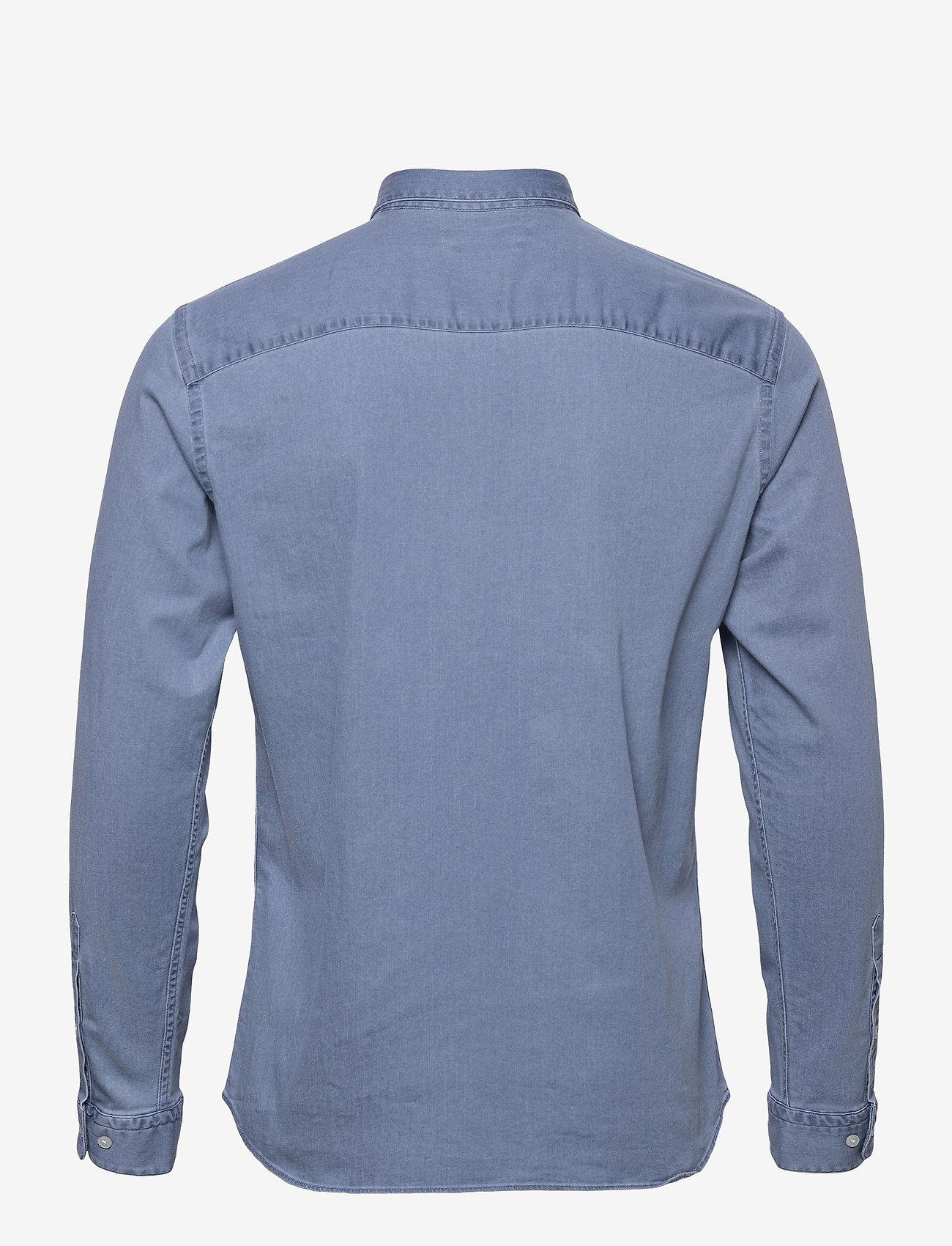 Jack & Jones - JPRBLALOGO STRETCH DENIM SHIRT L/S STS - basic skjortor - light blue denim - 1
