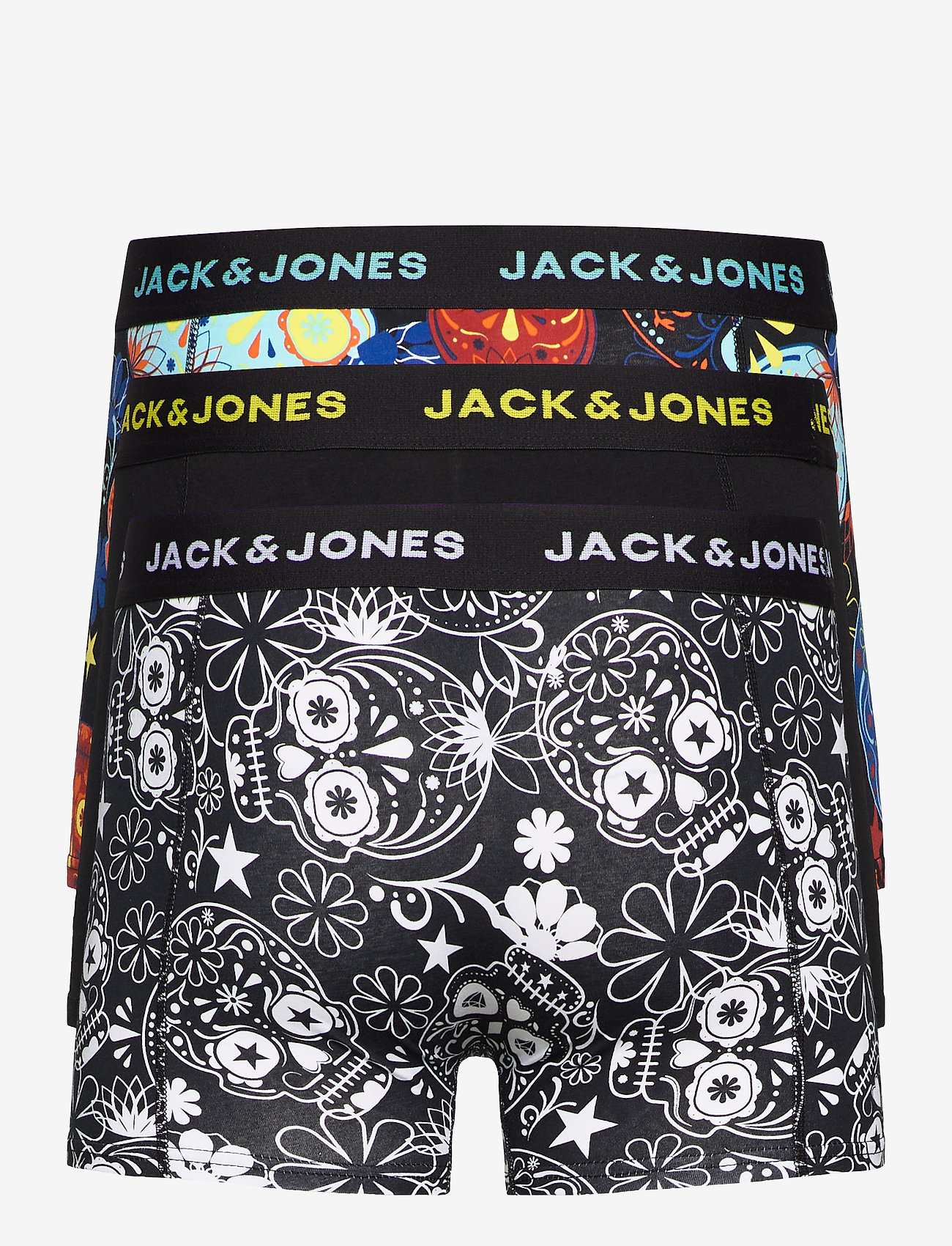 Jack & Jones - JACSUGAR SKULL TRUNKS 3 PACK. NOOS - bokserki - black - 1