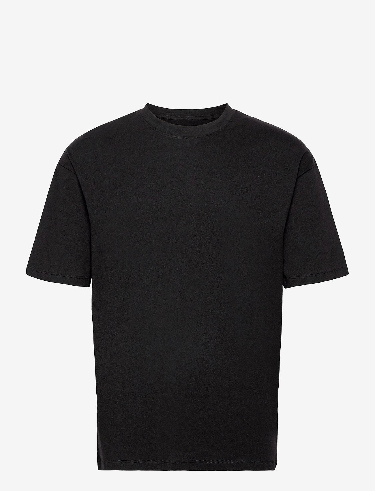 Jack & Jones - JORBRINK TEE SS CREW NECK - basic t-shirts - black - 0