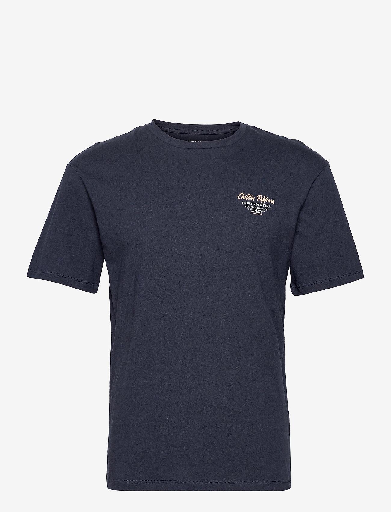 Jack & Jones - JORHUNGRY TEE SS CREW NECK - basic t-shirts - navy blazer - 0