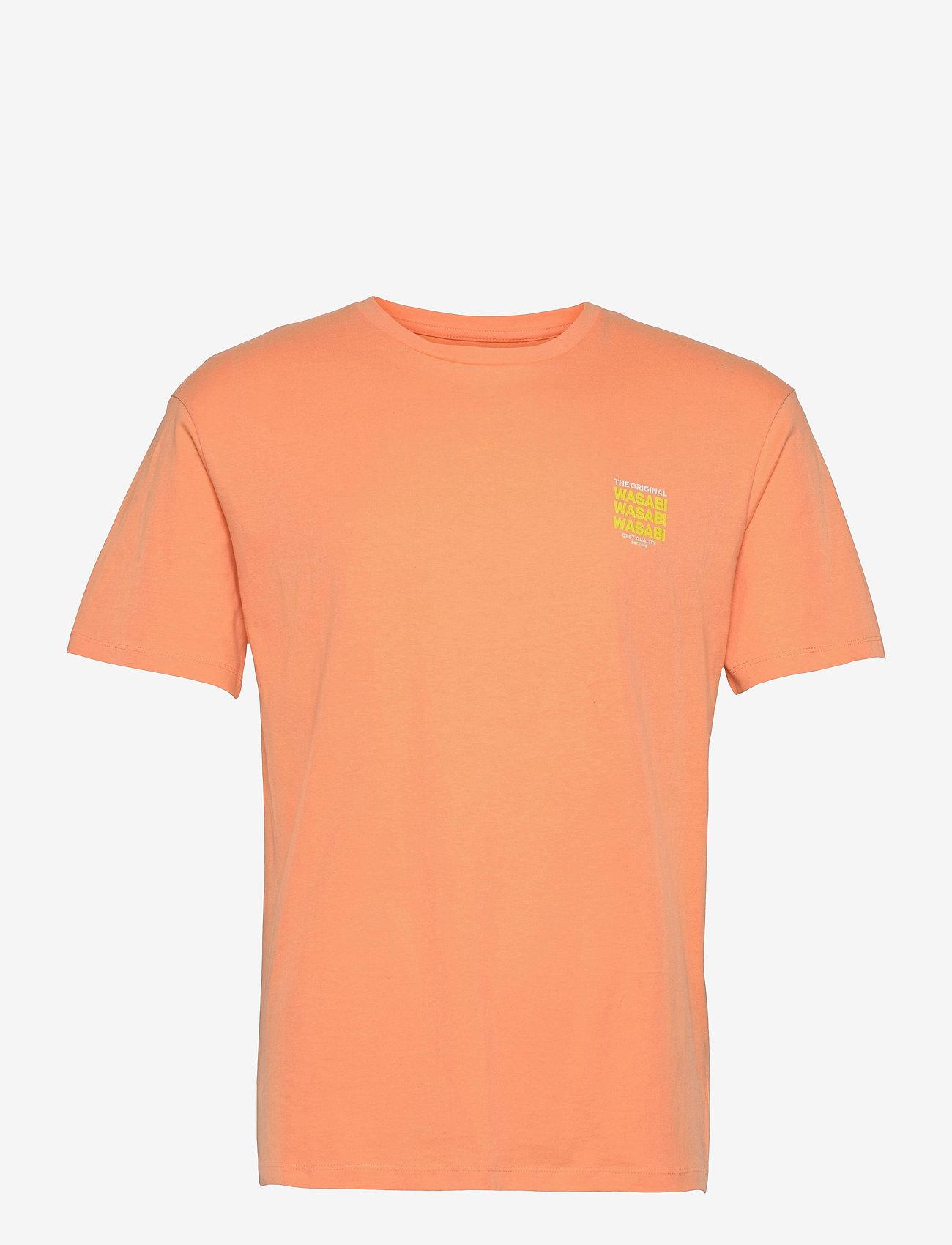 Jack & Jones - JORHUNGRY TEE SS CREW NECK - basic t-shirts - shell coral - 0
