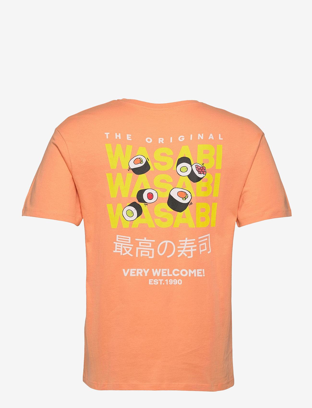 Jack & Jones - JORHUNGRY TEE SS CREW NECK - basic t-shirts - shell coral - 1