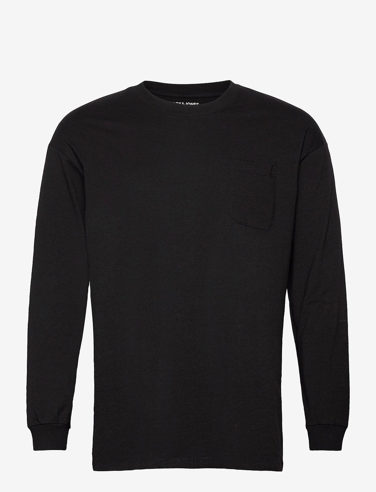 Jack & Jones - JORBRINK TEE LS CREW NECK - basic t-shirts - black - 0