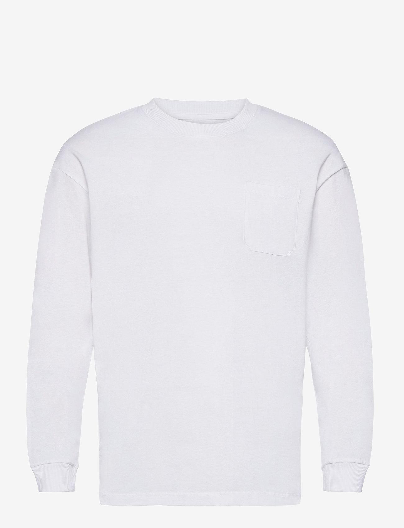 Jack & Jones - JORBRINK TEE LS CREW NECK - basic t-shirts - white - 0
