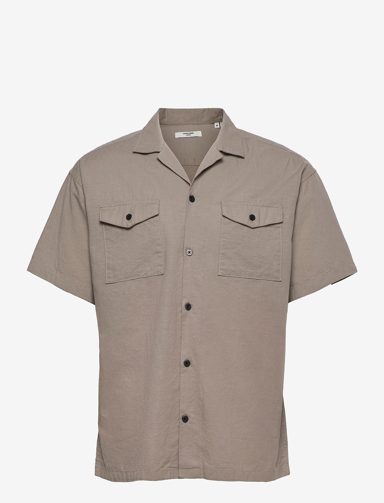 Jack & Jones - JPRBLASUMMER POCKET RESORT SHIRT S/S - basic skjortor - elephant skin - 0