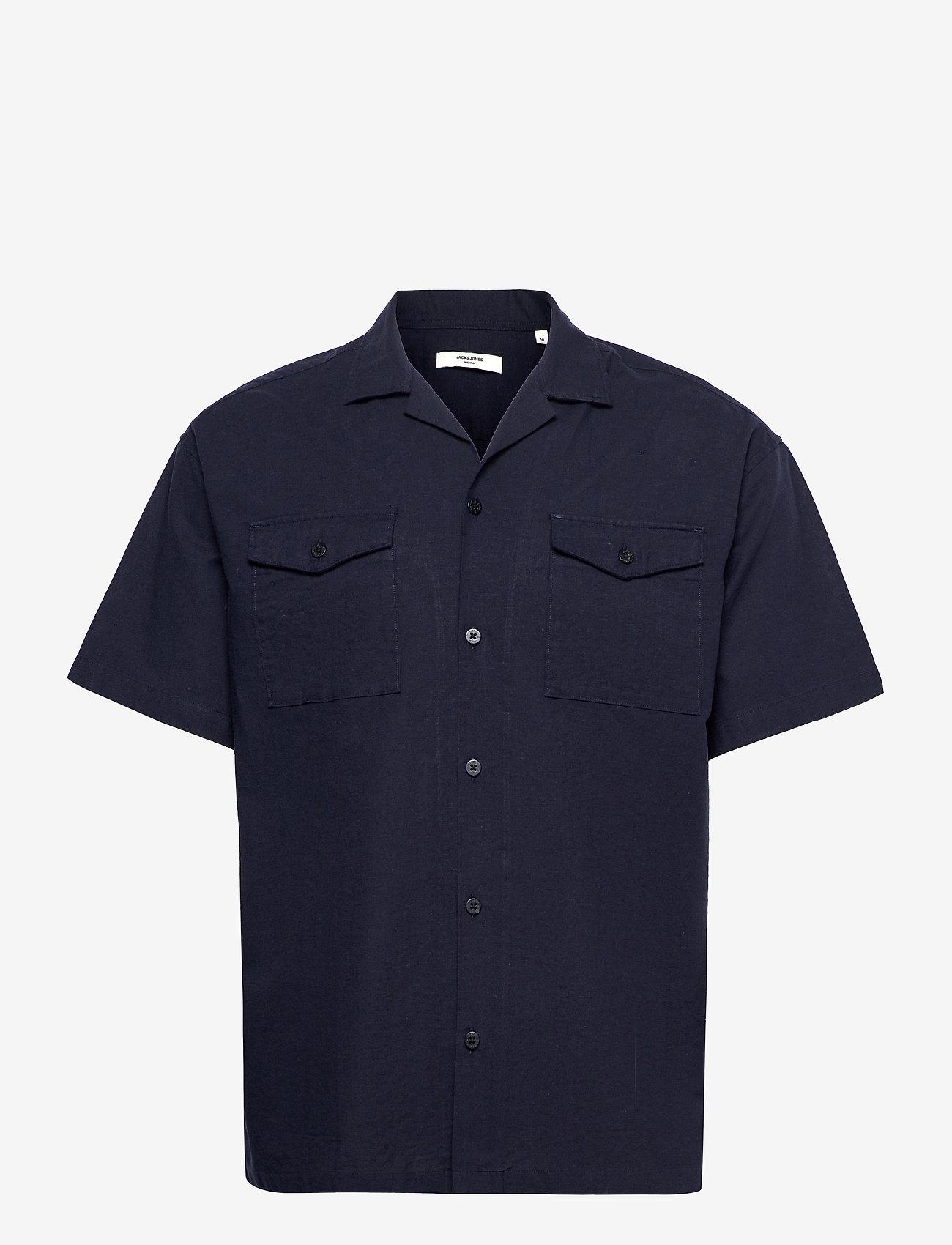 Jack & Jones - JPRBLASUMMER POCKET RESORT SHIRT S/S - basic skjortor - navy blazer - 0