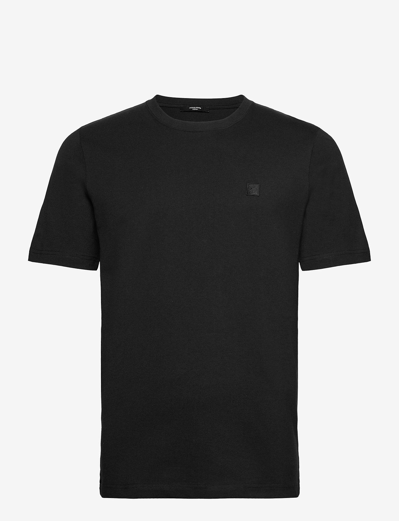 Jack & Jones - JPRBLASTUDIO SS TEE SOLID LTN - kortärmade t-shirts - black - 0