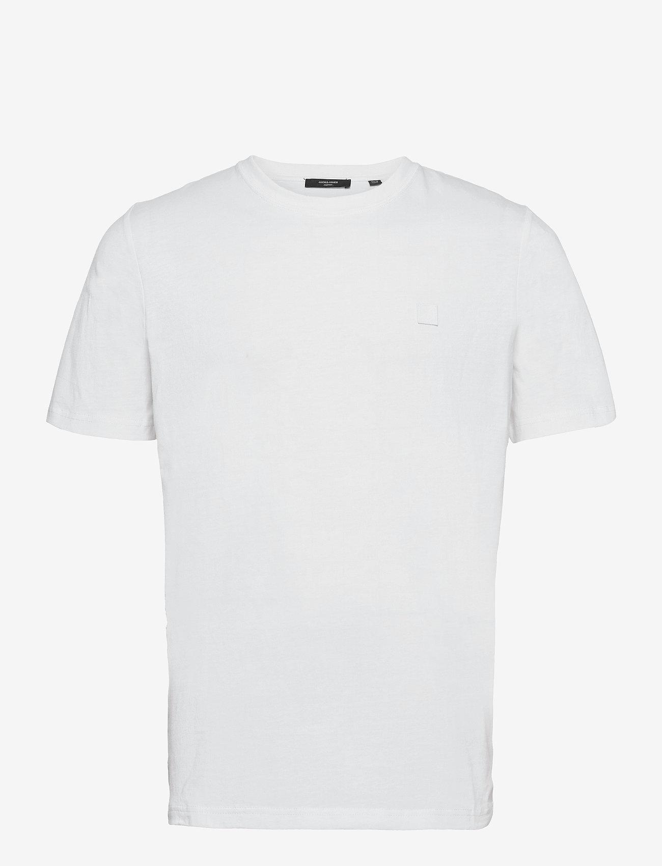 Jack & Jones - JPRBLASTUDIO SS TEE SOLID LTN - kortärmade t-shirts - white - 0