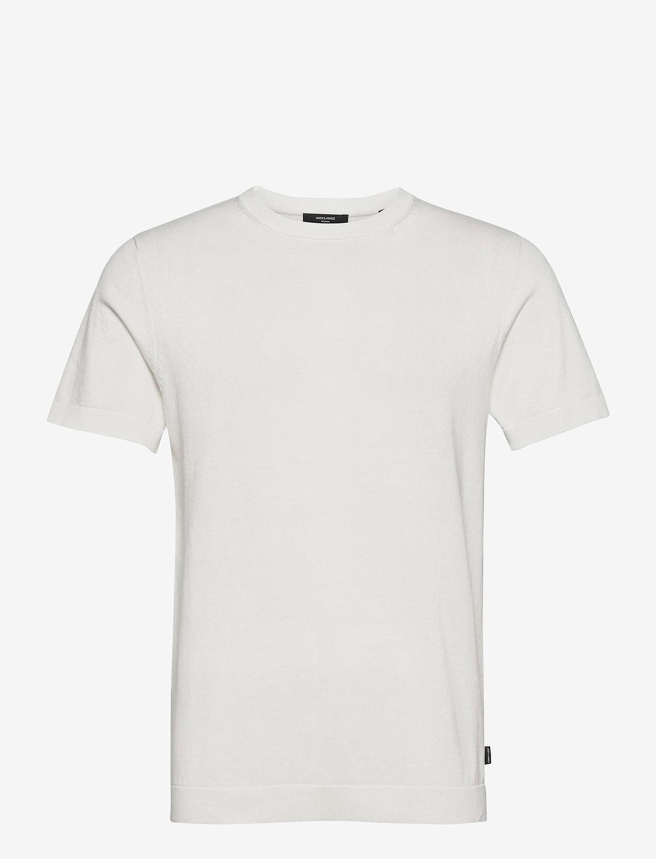 Jack & Jones - JPRBLAIGOR KNIT SS - basic t-shirts - egret - 0