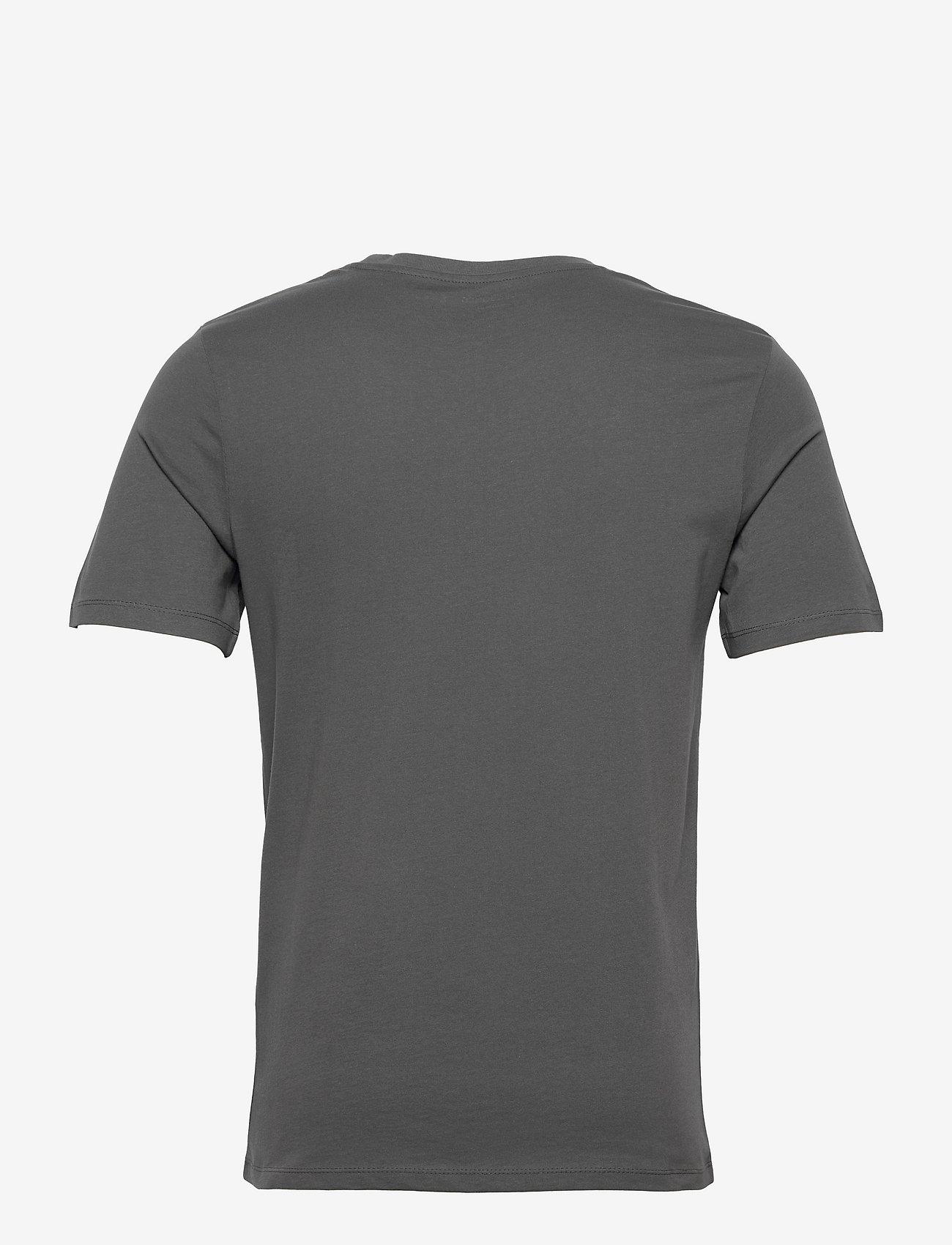 Jack & Jones - JJELOGO TEE SS O-NECK 2 COL AW21 SN - kortärmade t-shirts - asphalt - 1