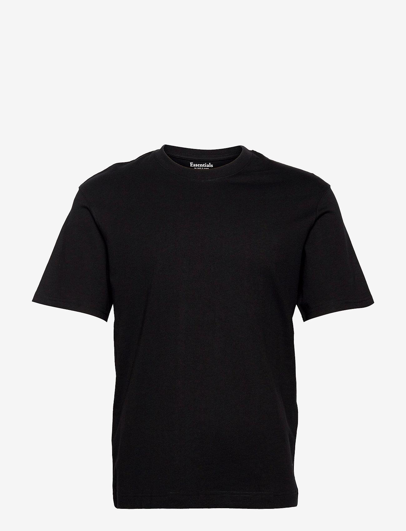 Jack & Jones - JJERELAXED TEE SS O-NECK - basic t-shirts - black - 0