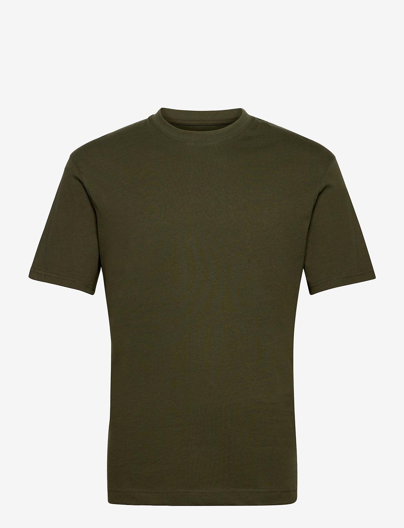 Jack & Jones - JJERELAXED TEE SS O-NECK - basic t-shirts - forest night - 0
