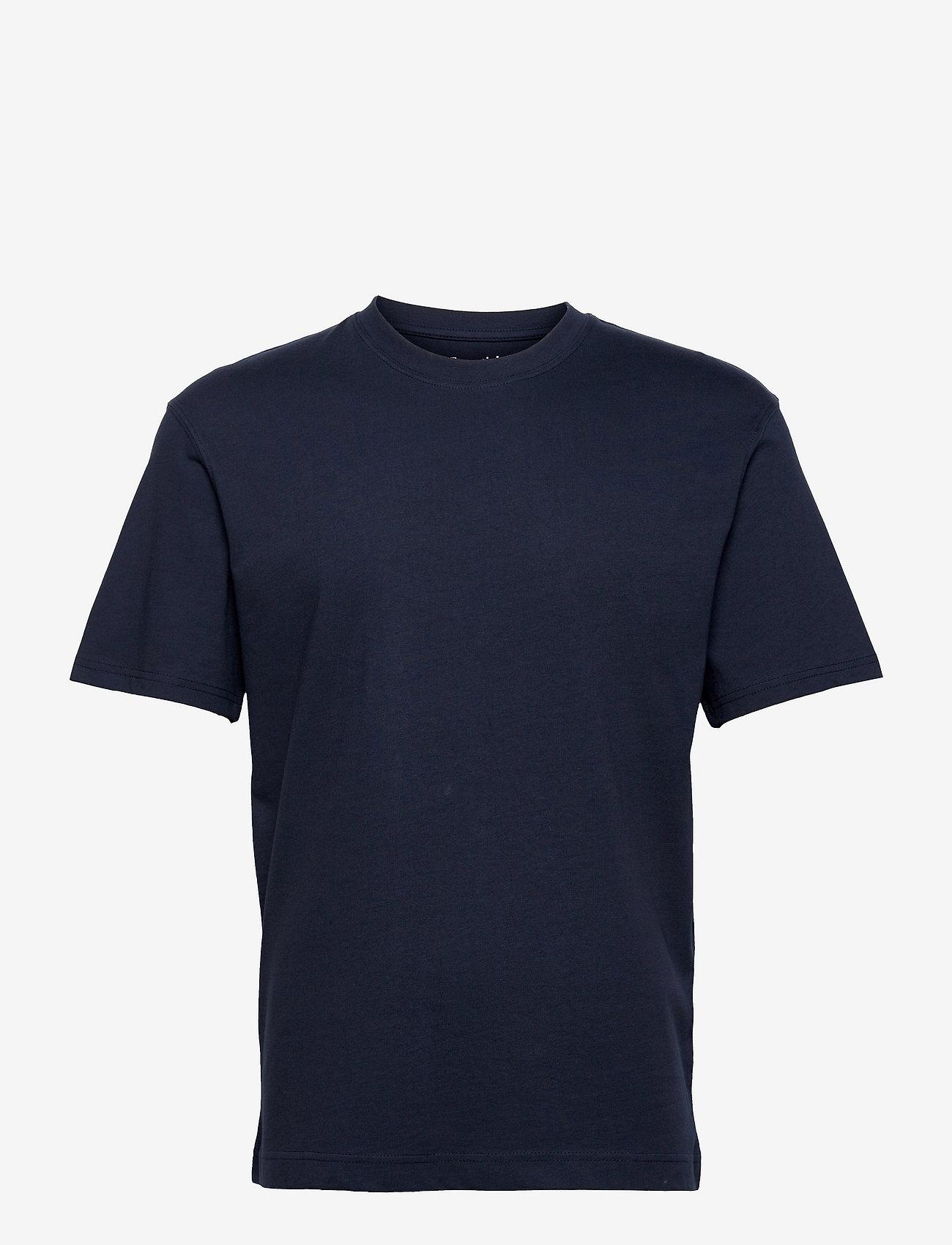 Jack & Jones - JJERELAXED TEE SS O-NECK - basic t-shirts - navy blazer - 0
