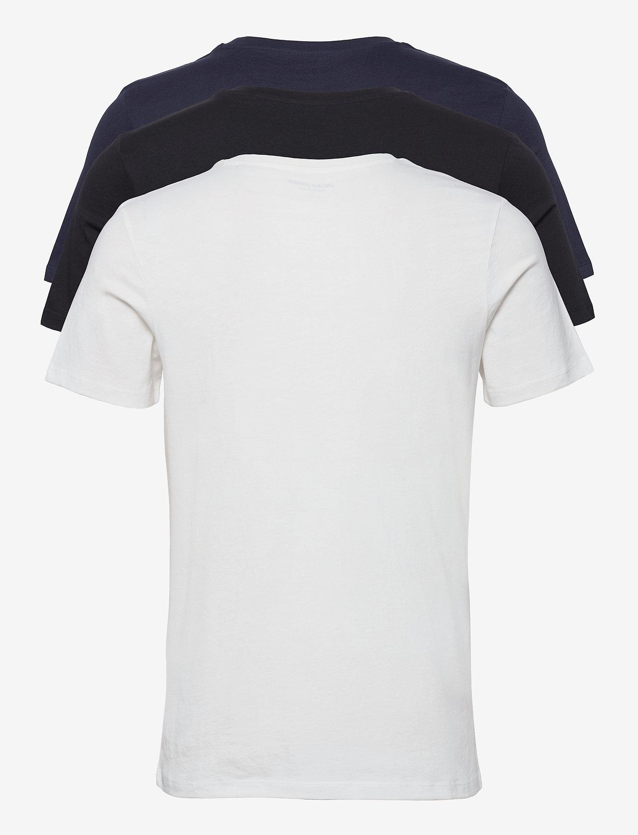 Jack & Jones - JJELOGO TEE SS O-NECK 2 COL SS21 3PK MP - kortärmade t-shirts - black - 1