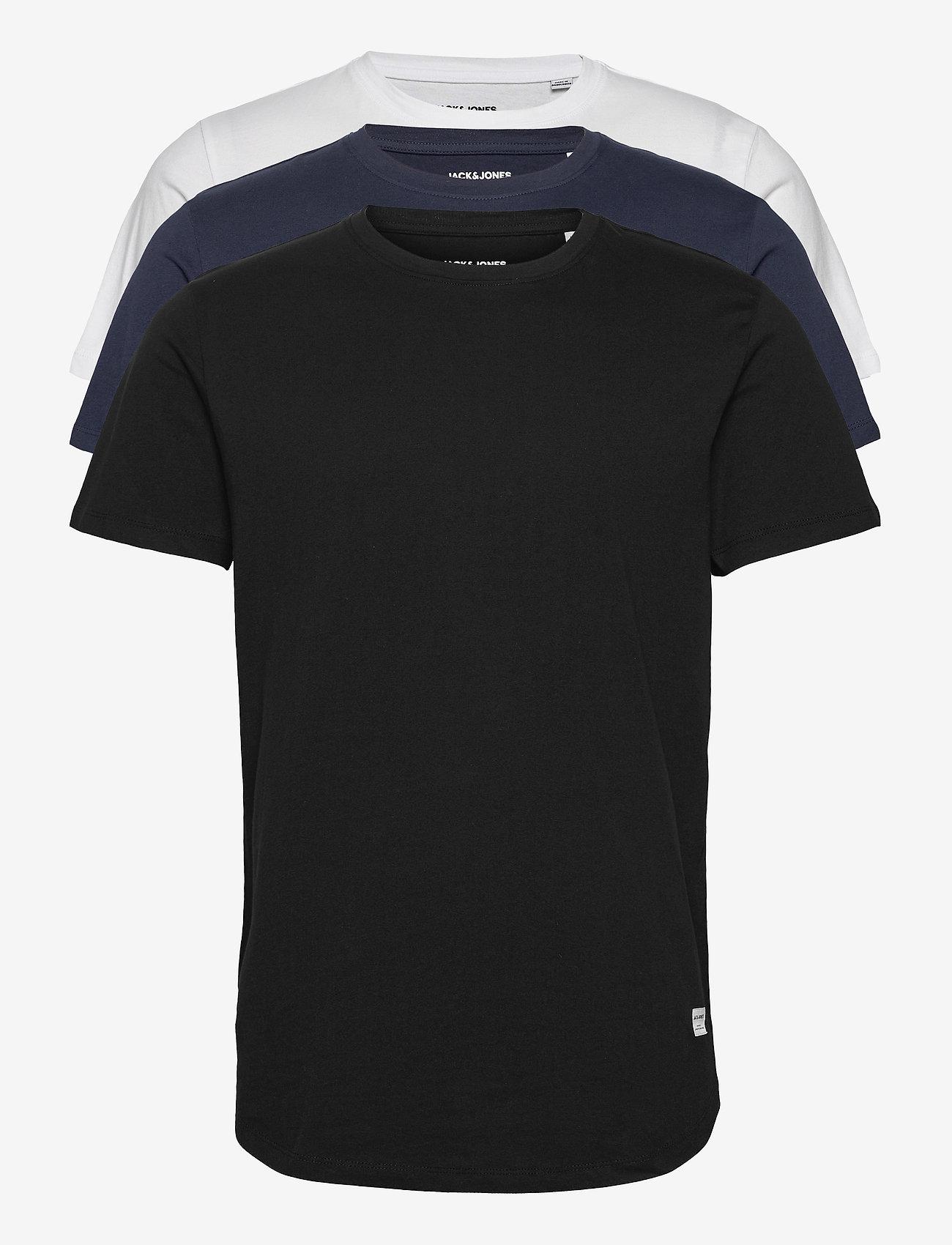 Jack & Jones - JJENOA TEE SS CREW NECK 3PK MP - basic t-shirts - white - 0