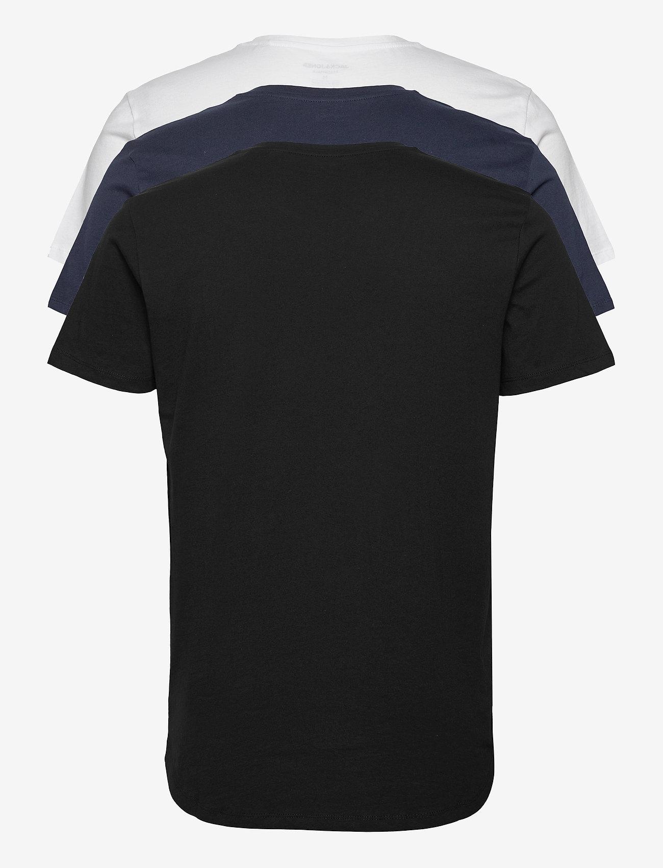 Jack & Jones - JJENOA TEE SS CREW NECK 3PK MP - basic t-shirts - white - 1