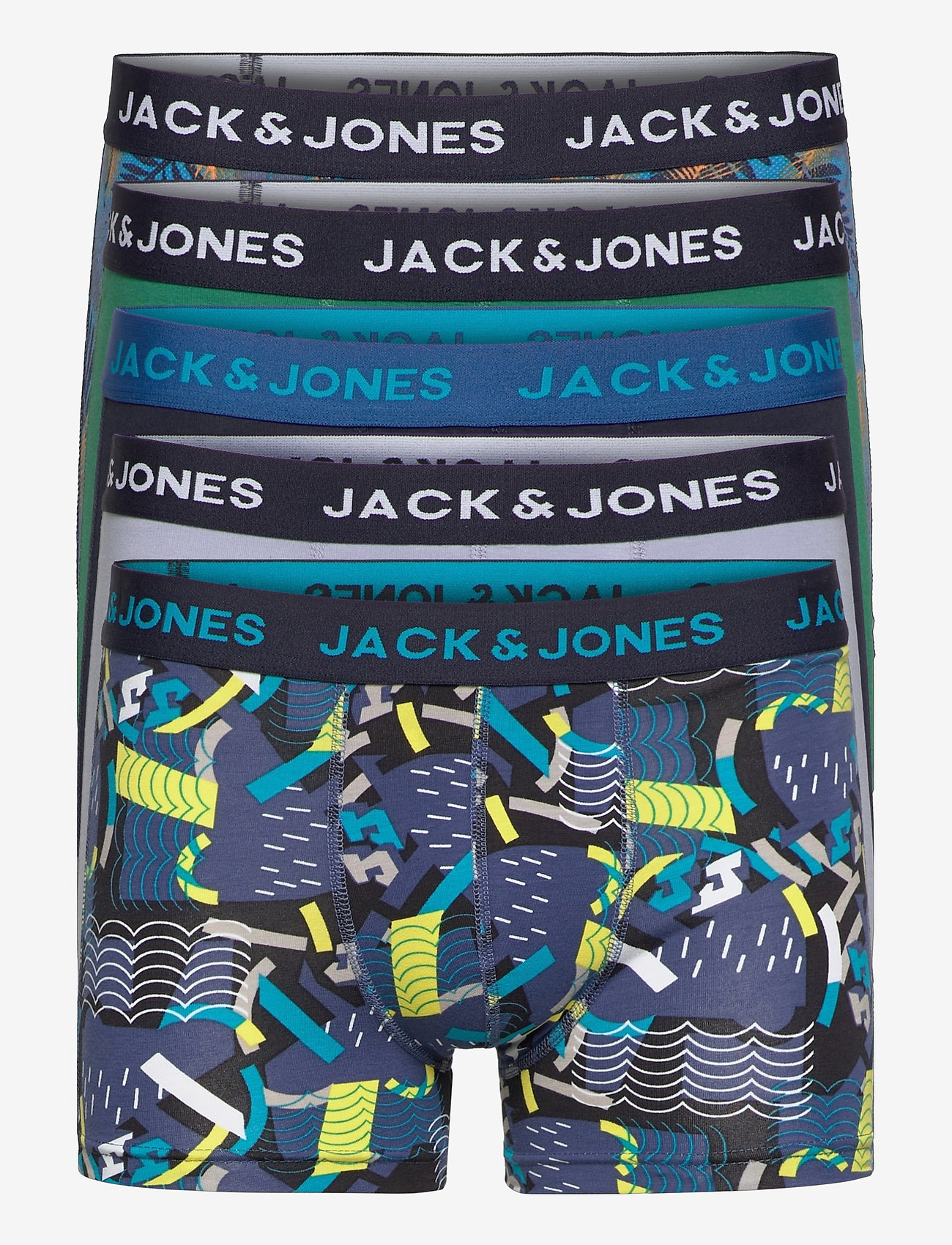 Jack & Jones - JACSUMMER PRINT TRUNKS 5 PACK LTN - bokserki - blazing yellow - 0