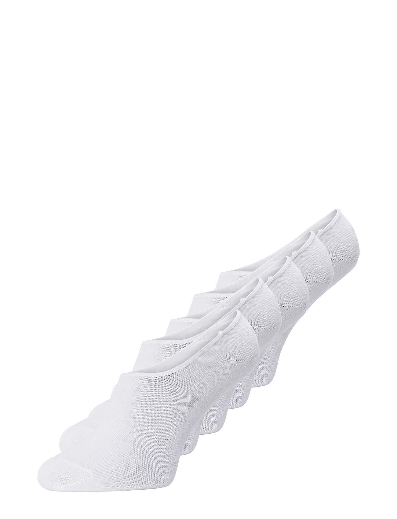 Image of Jacbasic Multi Short Sock 5 Pack Noos Ankelstrømper Korte Strømper Hvid Jack & J S (3412357141)