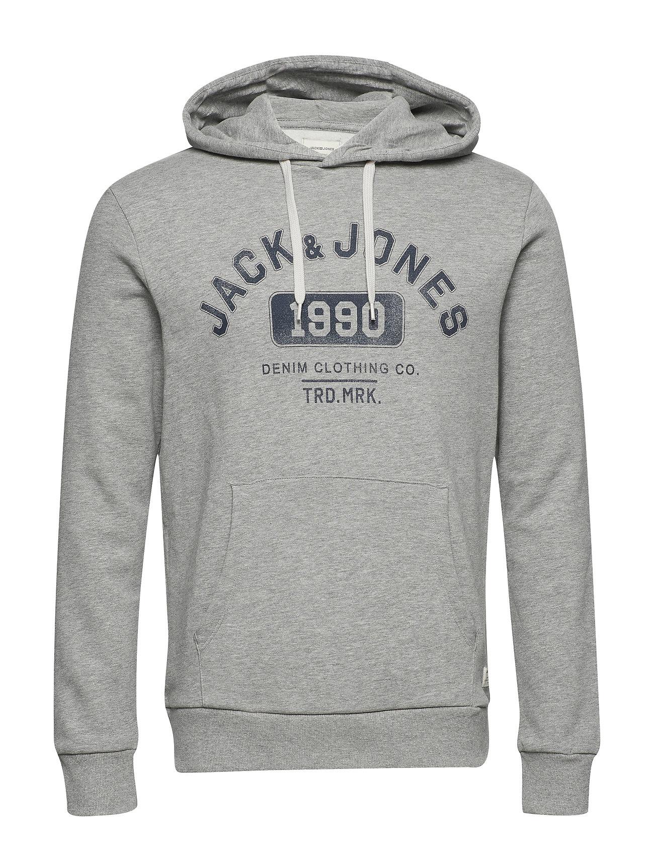 e42ddcff6458 Jjejeans Sweat Hood Noos (Light Grey Melange) (299 kr) - Jack ...
