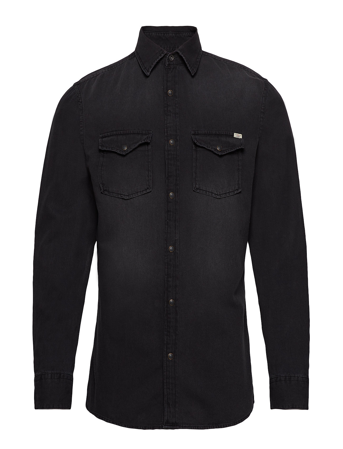 Jack & Jones JJESHERIDAN SHIRT L/S NOOS - BLACK DENIM