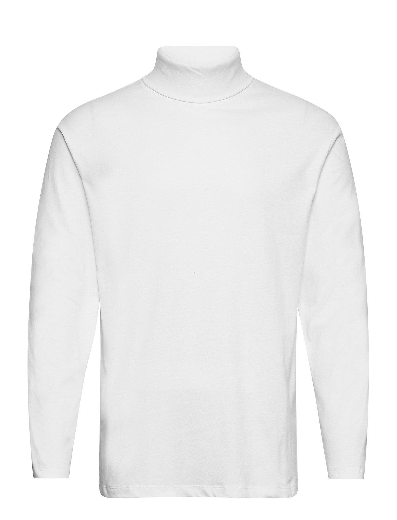 Jjeriley Tee Ls Roll Neck Sn T-Langærmet Skjorte Hvid Jack & J S