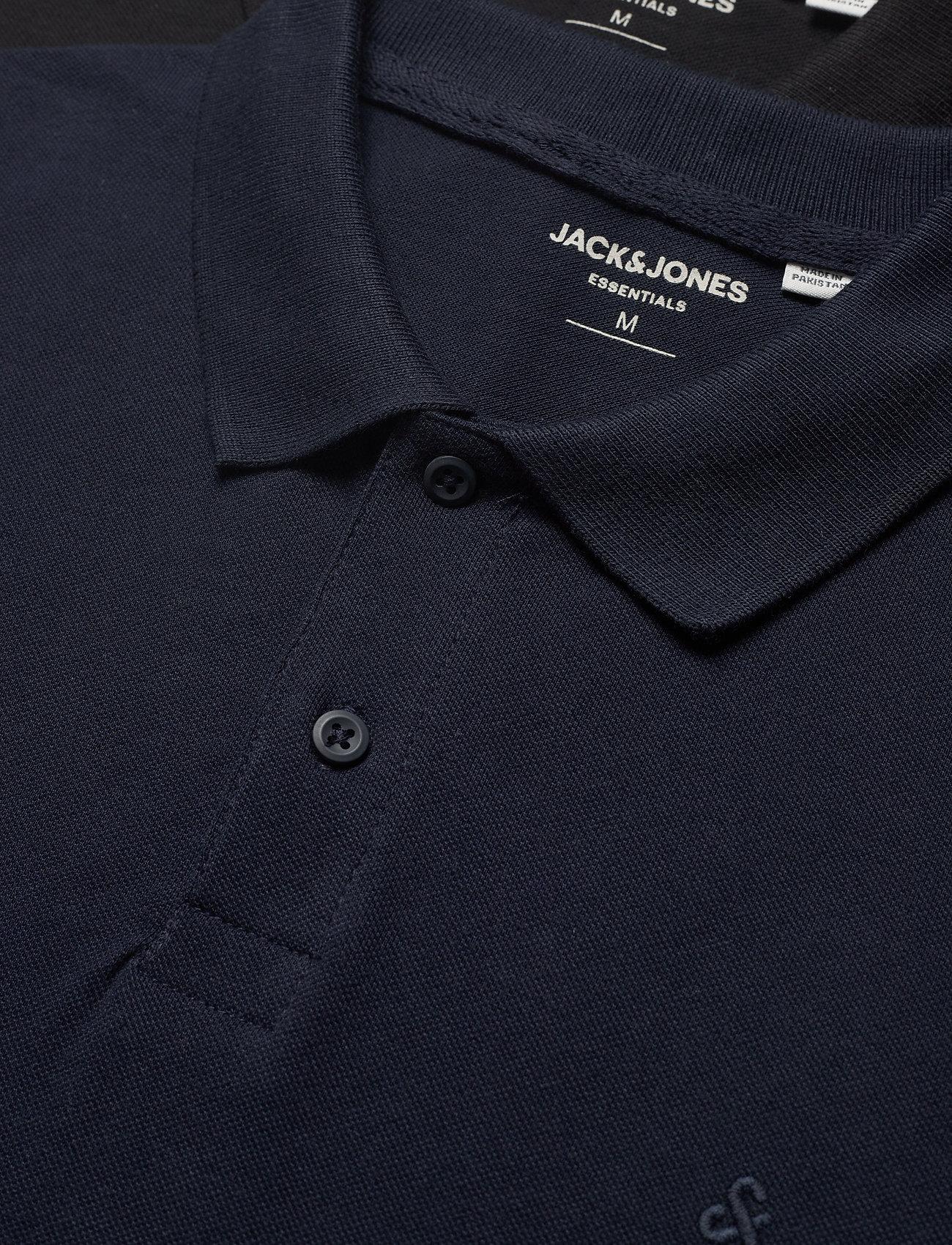 Jack & Jones - JJEBASIC POLO SS 2PK MP - short-sleeved polos - navy blazer - 1