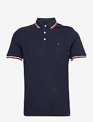 Jack & Jones - JJEPAULOS POLO SS - short-sleeved polos - navy blazer - 0