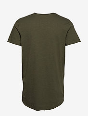 Jack & Jones - JJEBAS TEE SS U-NECK - basic t-shirts - thyme - 1