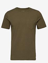 Jack & Jones - JJEPOCKET TEE SS O-NECK - basic t-shirts - olive night - 0