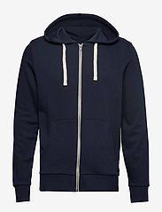 Jack & Jones - JJEHOLMEN SWEAT ZIP HOOD NOOS - basic sweatshirts - navy blazer - 0