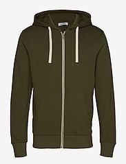 Jack & Jones - JJEHOLMEN SWEAT ZIP HOOD NOOS - basic sweatshirts - olive night - 0