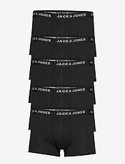 Jack & Jones - JACHUEY TRUNKS 5 PACK NOOS - bokserki - black - 0